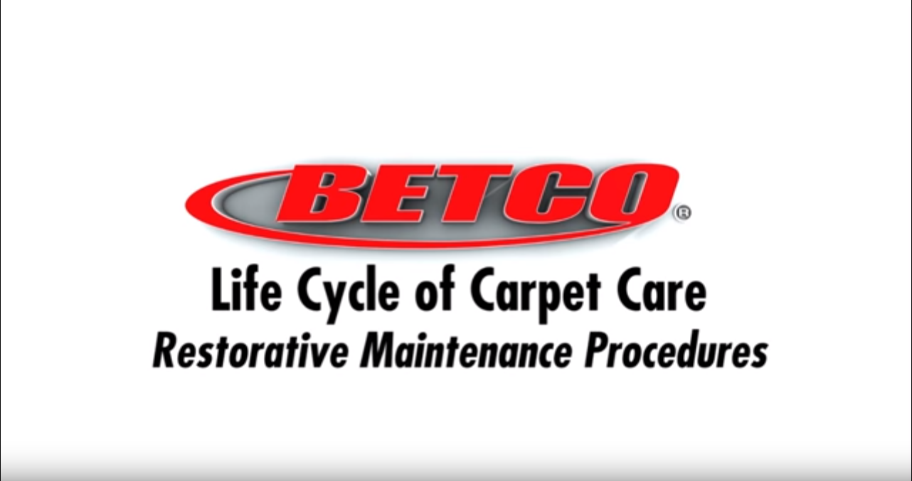 Betco Carpet Care - Restorative Maintenance Procedures - Pt. 3