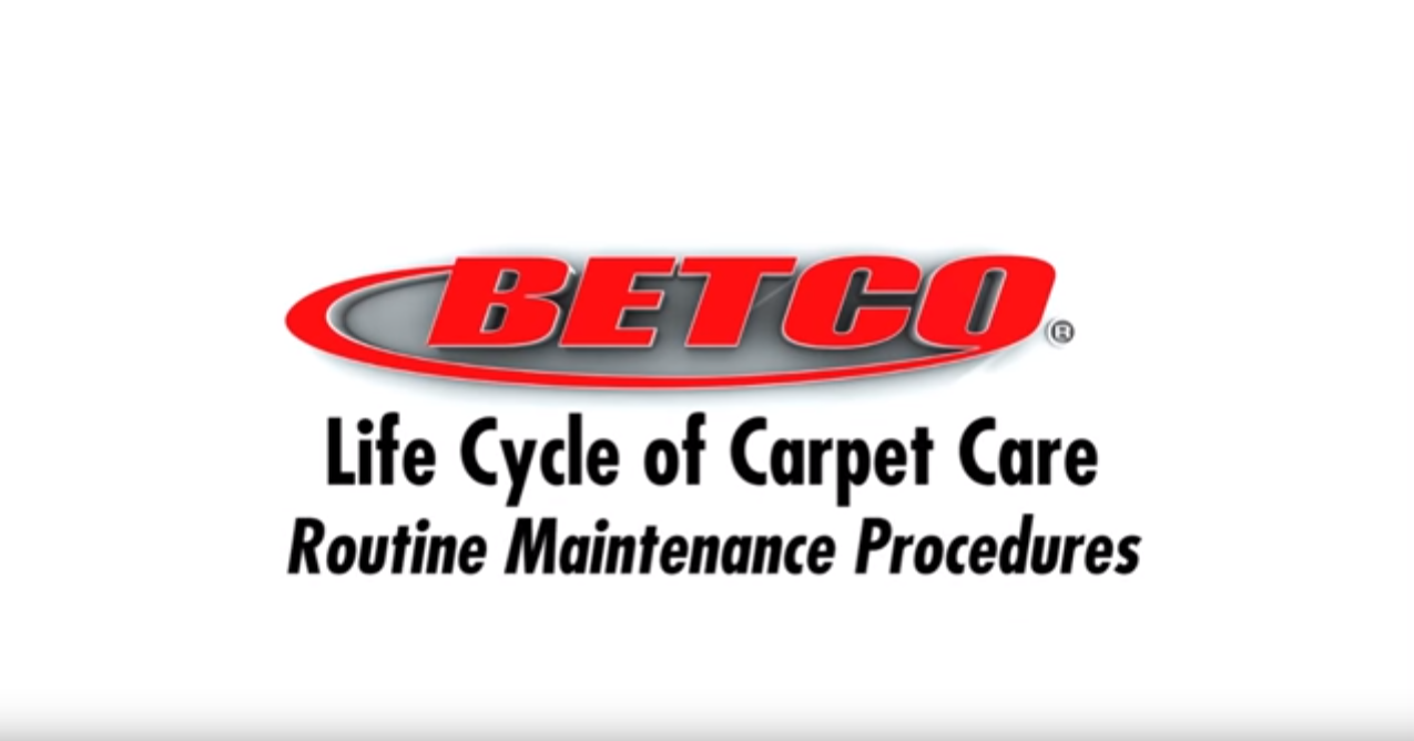 Betco Carpet Care - Routine Maintenance Procedures -  Pt. 1